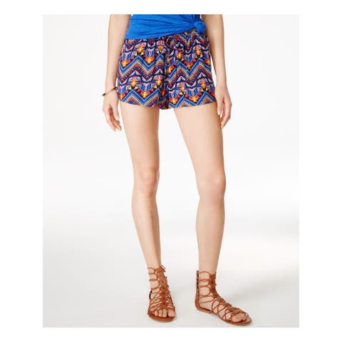 STOOSH Womens Blue Tie Tribal Cropped Intimates Short Juniors Size: XS
