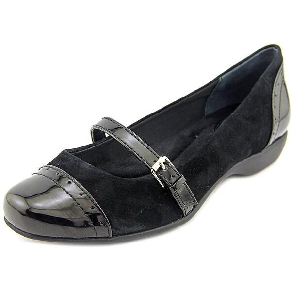 Giani Bernini Womens AUBREE Leather Cap Toe Mary Jane Flats