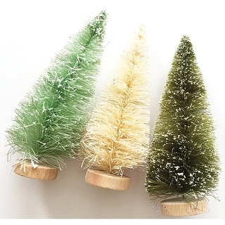 Merry & Bright Bottle Brush Trees-5""