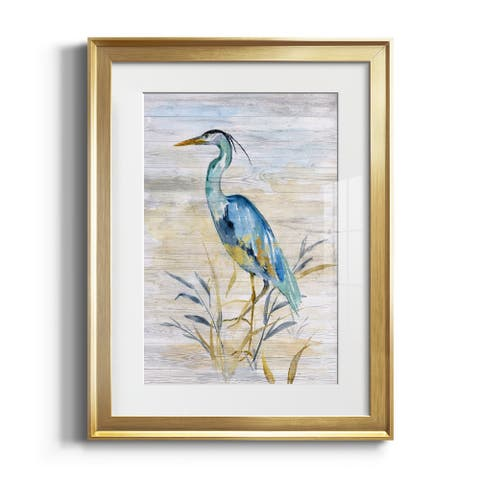 Blue Heron II Premium Framed Print - Ready to Hang