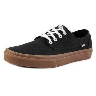 Vans Brigata Men  Round Toe Canvas Black Skate Shoe
