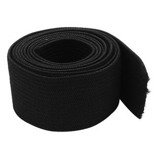 Unique Bargains Household Trousers Pants Sewing Stretchy Band Black 25mm Wide 1M Long