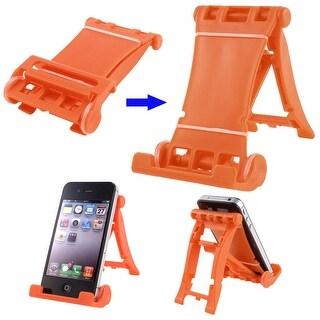 Unique Bargains Orange Folding Smart Phone Multi Stand Holder for iPad 1 2 3