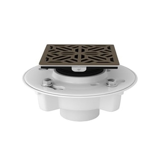 "Rohl SDPVC2/3-3144 3"" PVC Shower Drain Body Kit with Mosaic Cover - Polished Nickel"