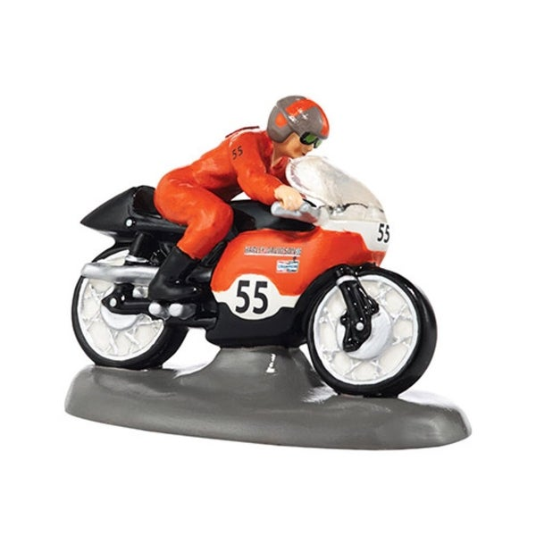 "Department 56 Snow Village ""Harley-Davidson Top Speed!"" Ceramic Accessory #4036574 - black"