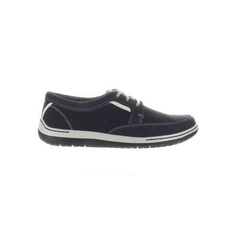 Dunham Mens Fitswift Navy Oxford Dress Shoe Size 8 (2E)