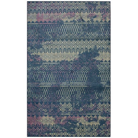 Mohawk Home Prale Transitional Boho Geometric Area Rug