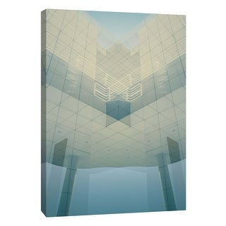 "PTM Images 9-106036  PTM Canvas Collection 10"" x 8"" - ""Folded Architecture 2"" Giclee Abstract Art Print on Canvas"