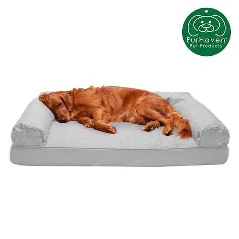 FurHaven Quilted Orthopedic Sofa Dog Bed