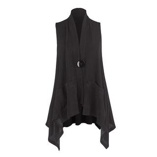 Women's Big Button Vest