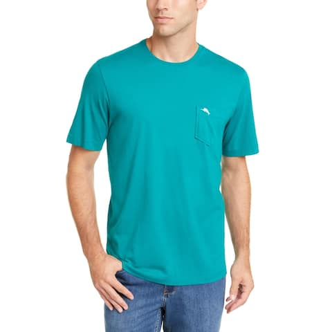 Tommy Bahama Mens T-Shirt Quetzal Green Size 2XL Tee Pocket-Front