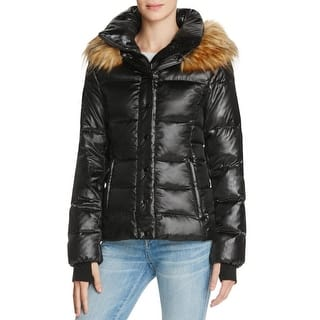 Aqua Womens Puffer Coat Faux Fur Hood Quilted - S|https://ak1.ostkcdn.com/images/products/is/images/direct/f49abe6de55a6ef6fa02ccd8c8b96a0793467371/Aqua-Womens-Puffer-Coat-Faux-Fur-Hood-Quilted.jpg?impolicy=medium