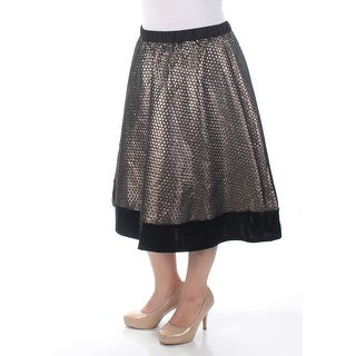 NY COLLECTION $37 1301 Womens Silver Geometric Party Skirt M B+B