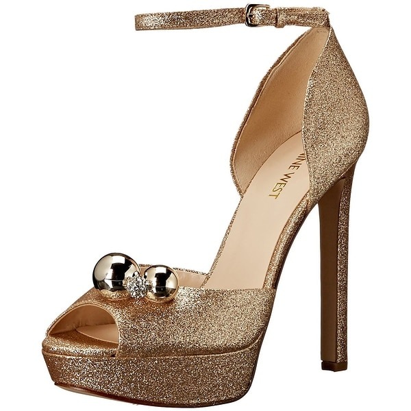 Nine West Womens Vidah Open Toe Special Occasion Ankle Strap Sandals - 9