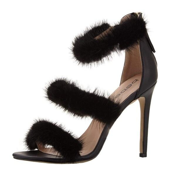 Bebe Womens Berdine Fabric Open Toe Special Occasion Strappy Sandals
