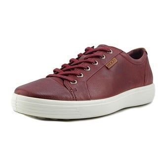 Ecco Soft 7 Men  Round Toe Leather Red Sneakers