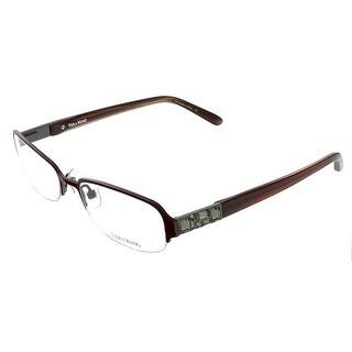 Vera Wang V 040 BU 50 Burgundy Metal Clear  Optical Frames