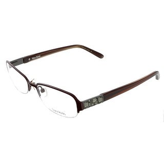 vera wang v 040 bu 50 burgundy metal clear optical frames