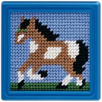 """6""""X6"""" Stitched In Yarn - Horse Learn To Sew Needlepoint Kit"""