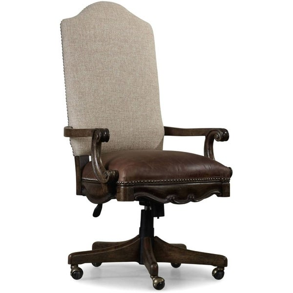 Furniture 5070 30220 Adjule Height Fabric And Leather Office Chair From The Rhapsody Collection