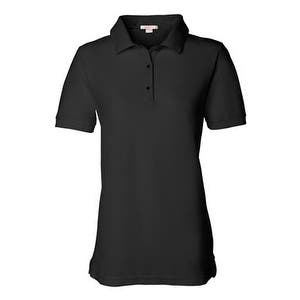 FeatherLite Women's Pique Sport Shirt - Black - 2XL