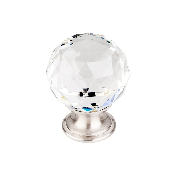 Top Knobs TK126 Crystal 1-3/8 Inch Diameter Round Cabinet Knob