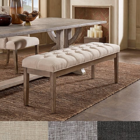 Benchwright Premium Tufted Reclaimed 52-inch Upholstered Bench by iNSPIRE Q Artisan