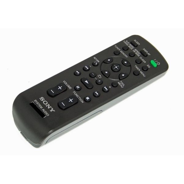 OEM Sony Remote Control Originally Shipped With: HCDEC609IP, HCD-EC609IP, HCDBX20, HCD-BX20, CMTCX4IP, CMT-CX4IP