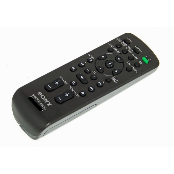 OEM Sony Remote Control Originally Shipped With: MHCEC709IP, MHC-EC709IP, HCDCX4IP, HCD-CX4IP, HCDEC69, HCD-EC69