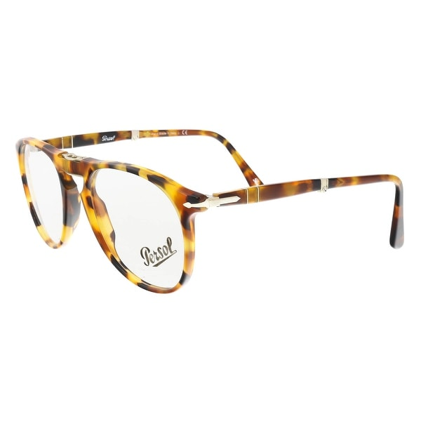 ce9f9d215d Persol PO9714VM 1052 Medium Madreterra Havana Oval Optical Frames -  52-20-140