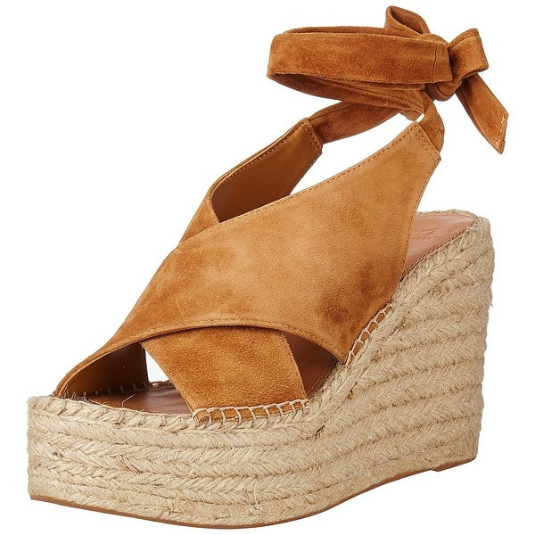 Marc Fisher Womens Andira Leather Open Toe Casual Platform, Tan, Size 11.0