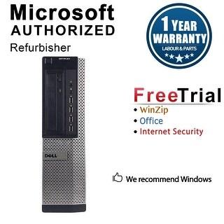 Dell OptiPlex 790 Desktop Computer Intel Core I5 2400 3.1G 8GB DDR3 2TB Windows 7 Pro 1 Year Warranty (Refurbished) - Black