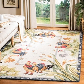 Link to Safavieh Hand-hooked Chelsea Chelsy Country Oriental Wool Rug Similar Items in Shabby Chic Rugs