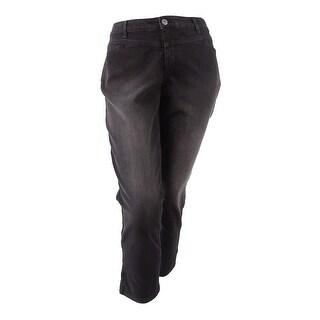 Style & Co. Plus Size Women's Split-Hem Jeans - black rinse