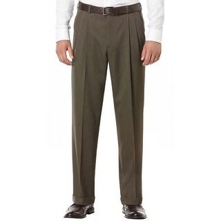 Perry Ellis Portfolio Classic Fit Fir Green Pleated Front Dress Pants 38W x 29L