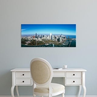 Easy Art Prints Panoramic Images's 'Millennium Park, Lake Michigan, Chicago, Cook County, Illinois' Canvas Art