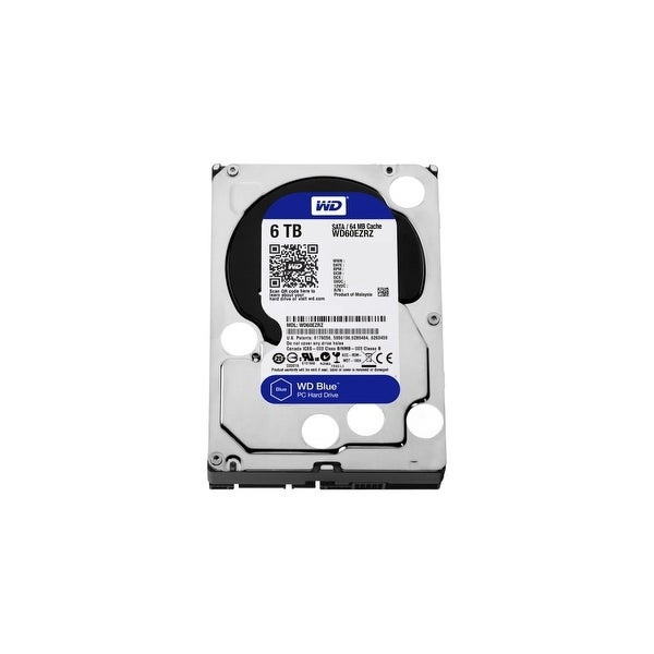 WD WD60EZRZ WD Blue 6 TB 3.5-inch SATA 6 Gb/s 5400 RPM PC Hard Drive - SATA - 5400 - 64 MB Buffer - Blue