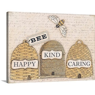 """Bee Happy"" Canvas Wall Art"