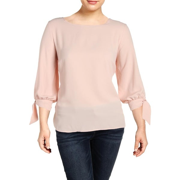 Nine West Womens Plus Andalusia Blouse 3/4 Sleeves Crepe