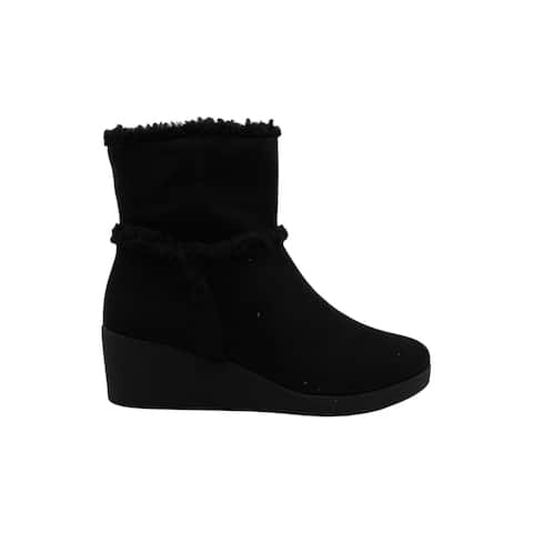 Style & Co. Women's Shoes Jordanyy Suede Almond Toe Ankle Cold Weather Boots