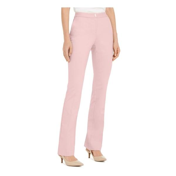 ALFANI Womens Pink Solid Straight leg Pants Size 14. Opens flyout.
