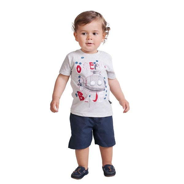 Pulla Bulla Baby Boy Graphic Tee Short Sleeve Shirt