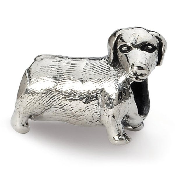 Sterling Silver Reflections Dachshound Bead (4mm Diameter Hole)