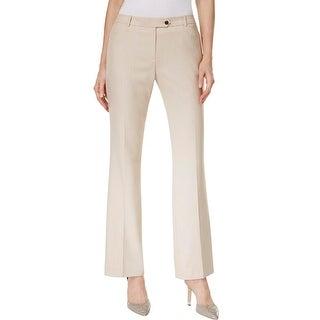 Calvin Klein Womens Dress Pants Straight Leg Breathable