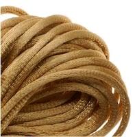 Rayon Satin Rattail 1mm Cord - Knot & Braid - Gold (6 Yards)