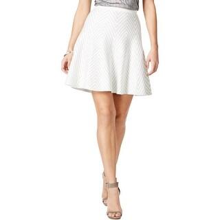 Grace Elements Womens Flare Skirt Chevron Metallic