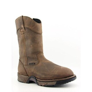 Rocky 5639 Aztec Men Round Toe Leather Brown Work Boot