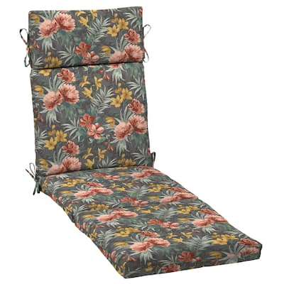 Arden Selections Phoebe Floral Outdoor Chaise Lounge Cushion - 72 in L x 21 in W x 3 in H