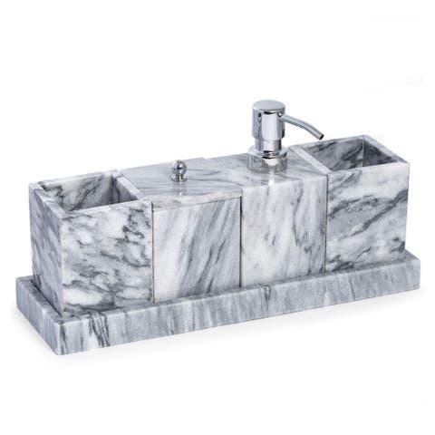 Vanity 5 Piece Marble Cloud Grey Set