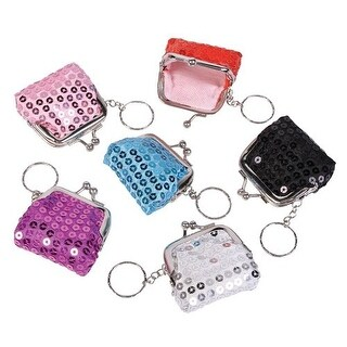 Mini Sequin Key Chain Purses (1 dz)